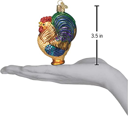Old World Christmas Farm Animals Glass Blown Ornaments For Christmas Tree Rooster Home Kitchen