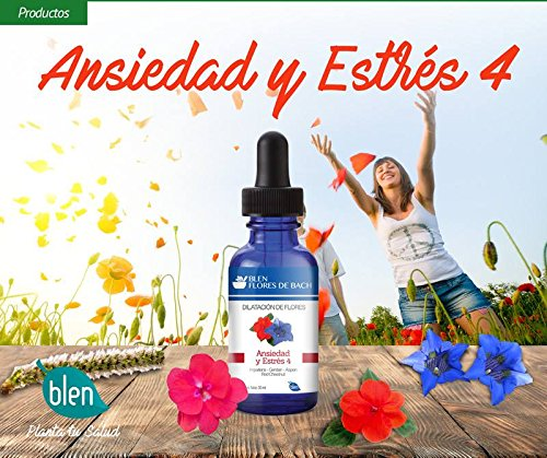 Amazon.com: Blen Flores de Bach Bach Flowers Anxiety - Stress 4: Health & Personal Care