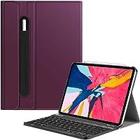 Fintie Bluetooth Tastatur Hülle für iPad Pro 11 2018 (Lademodus des Apple Pencils 2nd Gen Wird unterstützt) - Ultradünn leicht Keyboard Case mit magnetisch Abnehmbarer drahtloser Tastatur, Lila