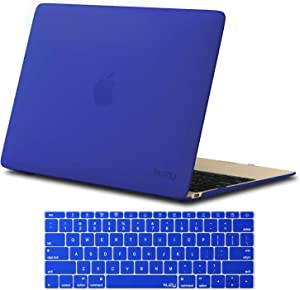 Kuzy MacBook 12 inch Case and Keyboard Cover for Model A1534 with Retina Display Soft Touch Hard Cover Shell - New Version - Blue