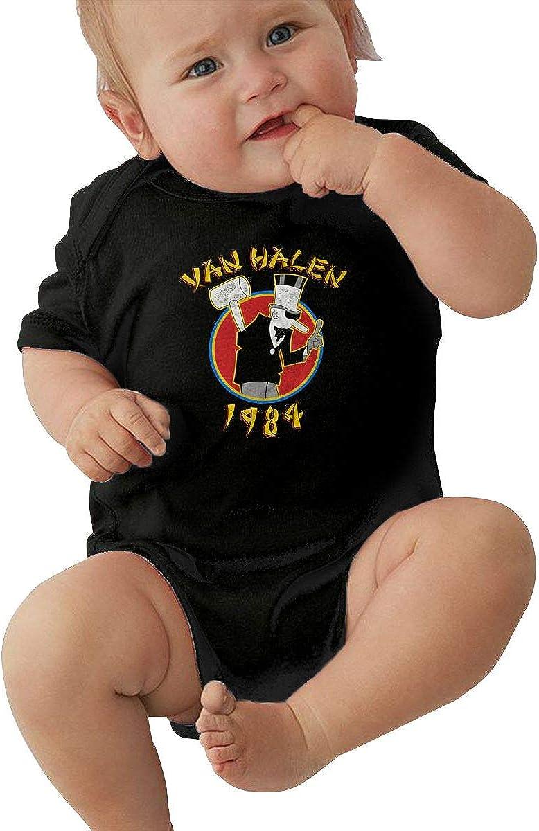 Van Halen Unisex 0-24 Months Baby Cotton Short-Sleeve Crawler Tee Black
