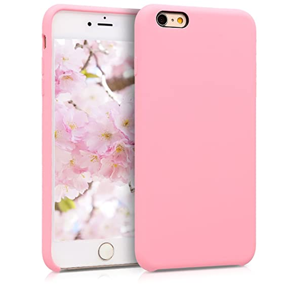 separation shoes 60c59 2bbb0 kwmobile TPU Silicone Case Compatible with Apple iPhone 6 Plus / 6S Plus -  Soft Flexible Rubber Protective Cover - Light Pink