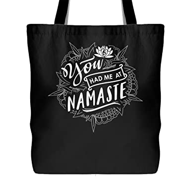 Amazon.com: You Had Me At Namaste bolsa de lona – Funny Yoga ...