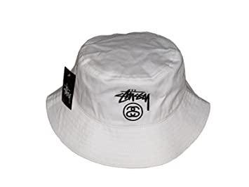 04a4e4eb8a8 Image Unavailable. Image not available for. Colour  Fashion White Stussy  Bucket Hat
