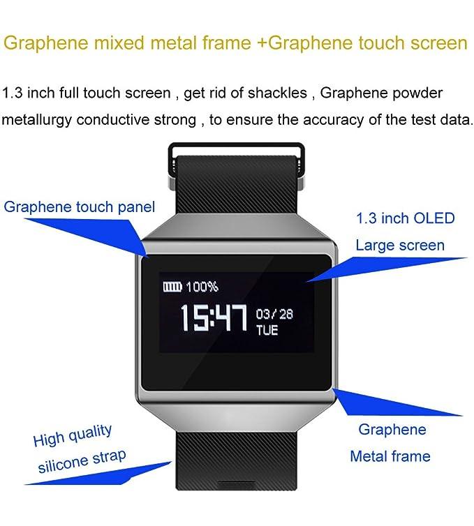 Amazon.com: BOND CK12 Waterproof Smart Watch ECG Heart Rate Blood Pressure Sleep Monitoring Bluetooth Wristbands for Android iOS Pedometer Sport Wristwatch: ...