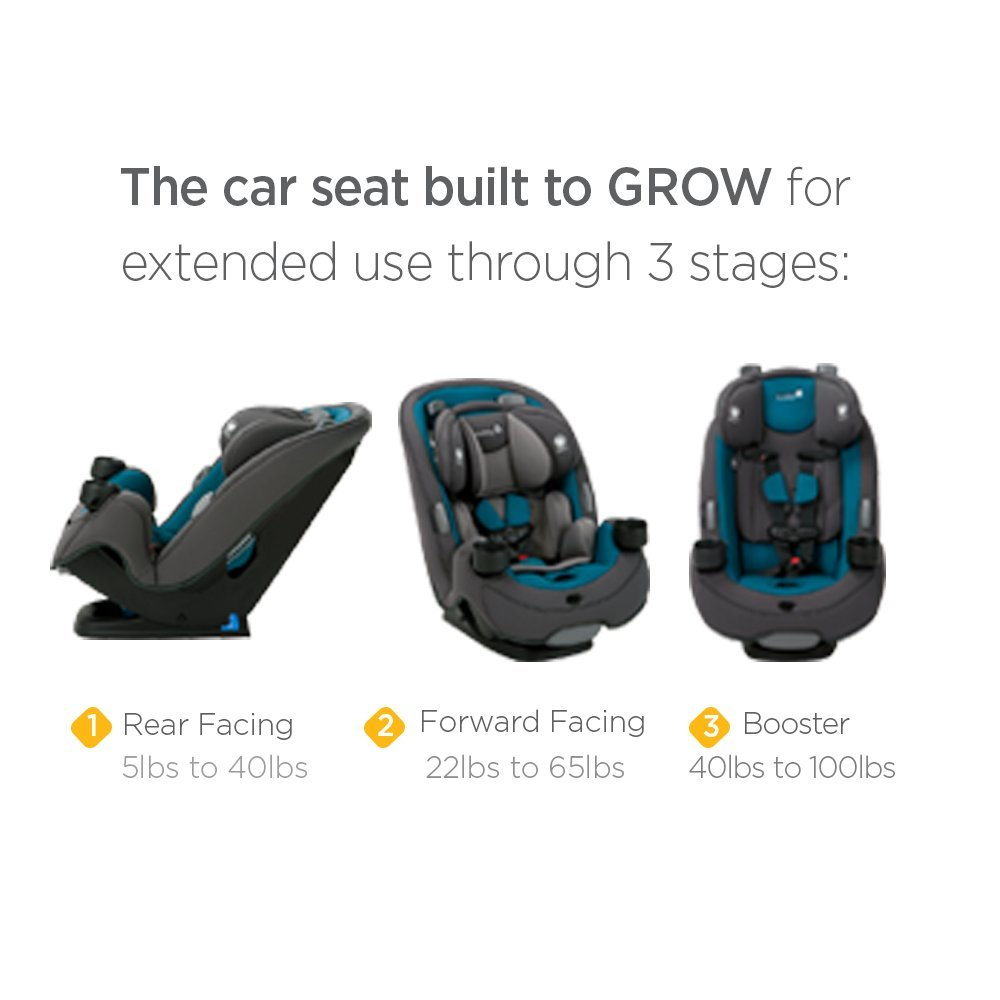 Amazon Safety 1st Grow And Go 3 In 1 Convertible Car Seat Boulevard Baby