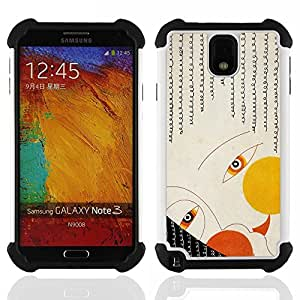 GIFT CHOICE / Defensor Cubierta de protección completa Flexible TPU Silicona + Duro PC Estuche protector Cáscara Funda Caso / Combo Case for Samsung Galaxy Note 3 III N9000 N9002 N9005 // Deco Face Eyes Girl Art Fashion Painiting //