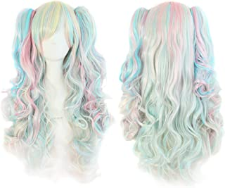 Cosplay Anime Wig 65cm Cute Loli Double Ponytail Long Curly Hair Wig (Color : 07)