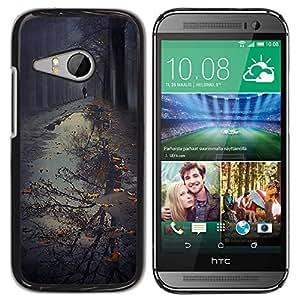 For HTC ONE MINI 2 / M8 MINI Case , Puddle Reflection Fall Autumn Nature - Diseño Patrón Teléfono Caso Cubierta Case Bumper Duro Protección Case Cover Funda