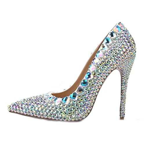 65c4282f15c TTN Pearls High Heel Women Pumps Pointed Toe 2018 Beads Crystal Cinderella Wedding  Shoes Prom Gown