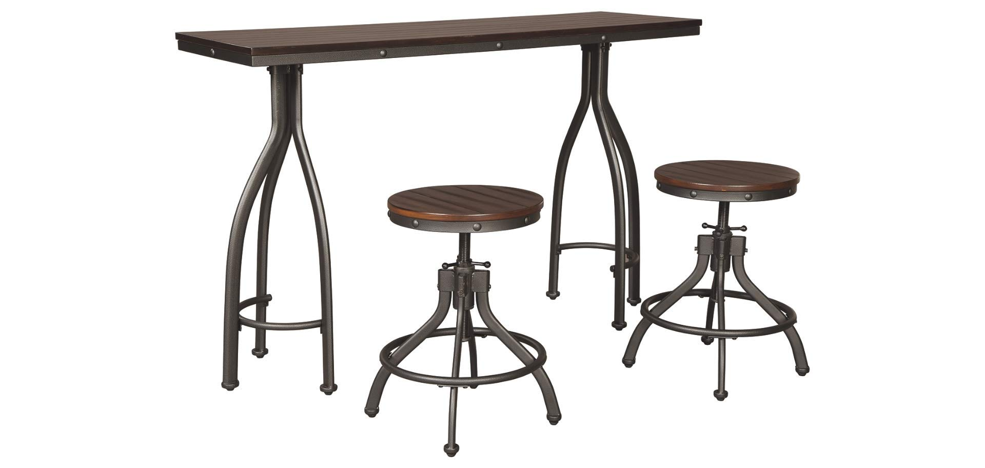 Signature Design by Ashley Odium Dining Table, 3pc by Signature Design by Ashley