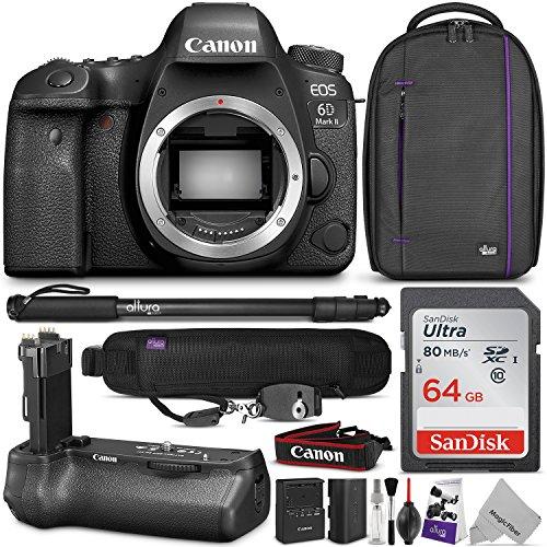 Canon EOS 6D Mark II DSLR Camera Body w/BG-E21 Battery Grip