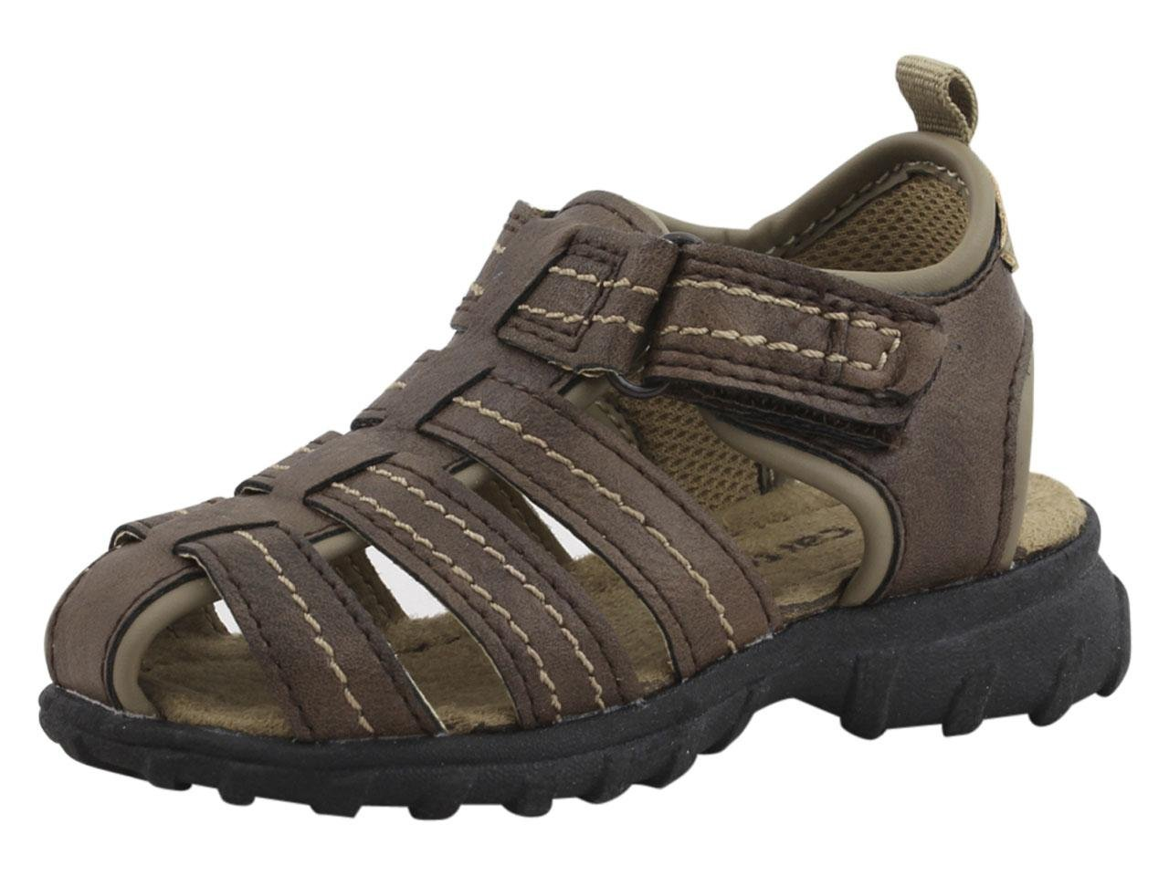 Carter's Jupiter-C Boy's Casual Fisherman Sandal, Brown, 9 M US Toddler
