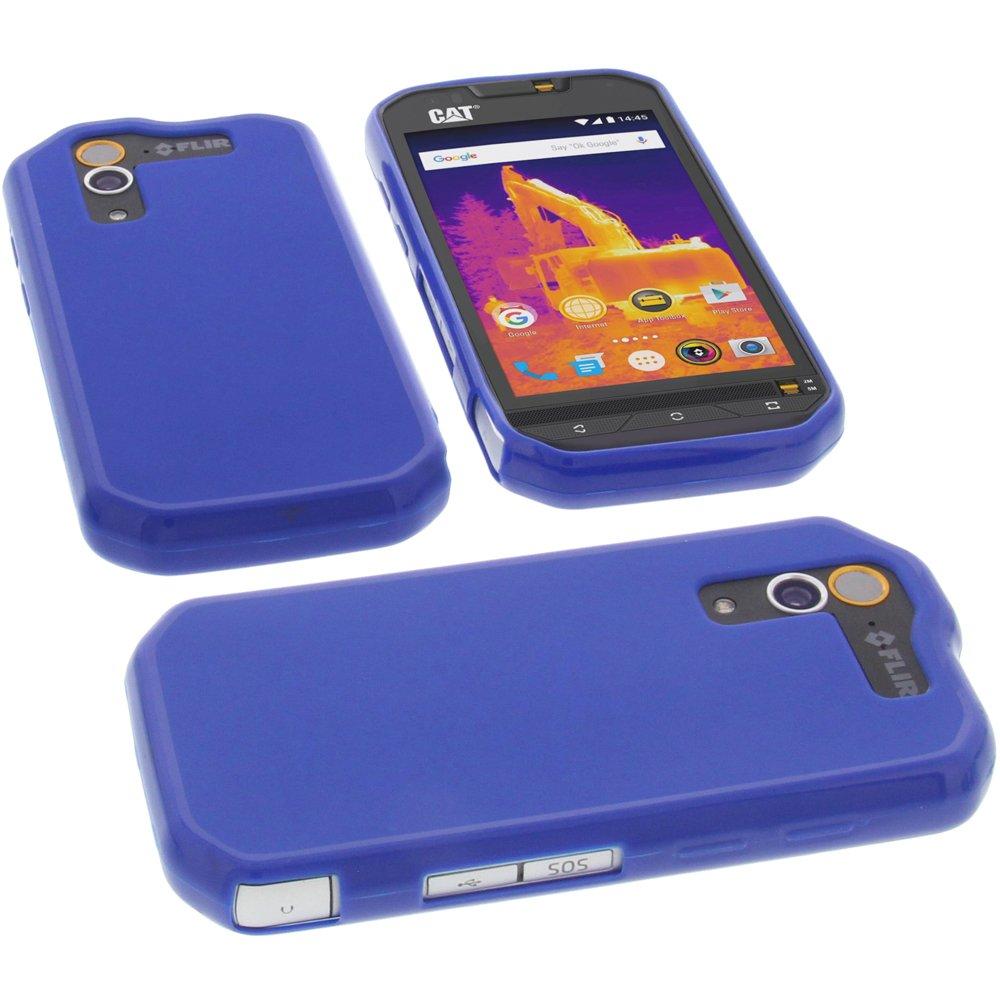 Funda Para Cat S60 (silicona Azul)