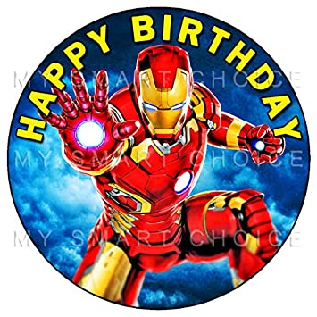 75 Inch Edible Cake Toppers Avengers Iron Man Themed Birthday Party Collection Of
