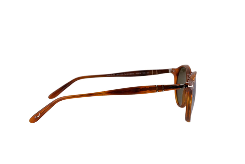 63024b63d6 Persol PO3092SM Sunglasses Terra Di Siena w Light Green Silver Mirror Lens  904130 PO 3092SM  Amazon.co.uk  Clothing