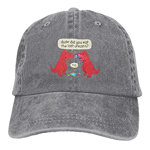Cap Vintage Baseball Dude (Michgton The Dude You Eat The Last Unicorn Dinosaurs Unisex Vintage Adjustable Baseball Cap Dad Hat)
