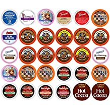30-count Hot Cocoa and Hot Chocolate Single Serve Cups for Keurig K-Cup Brewer VAriety Pack Sampler