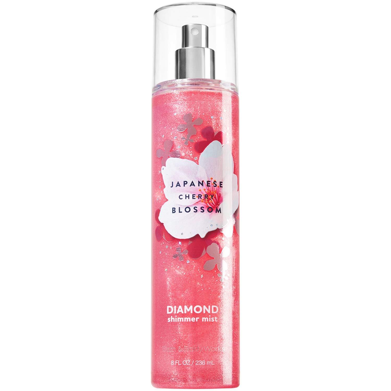 Bath and Body Works Diamond Shimmer Mist, Japanese Cherry Blossom, 8.0 Fl Oz