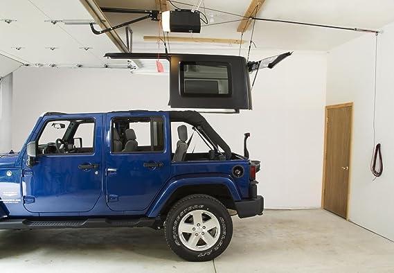 Harken Jeep Hardtop Garage Storage Hoist With Bonus 6 T Knobs For Quick Hardtop Removal 6 1 Mechanical Advantage Lift Single Person Hanger