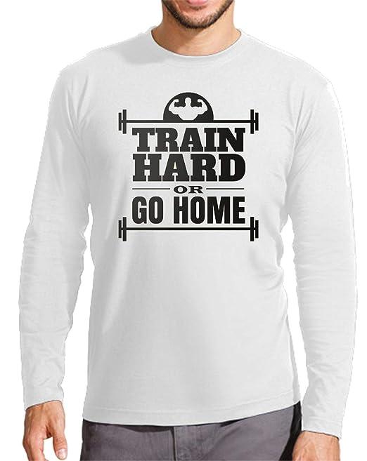 The Fan Tee Camiseta Manga Larga de Hombre Crossfit Deportes Fisico Pesas: Amazon.es: Ropa y accesorios