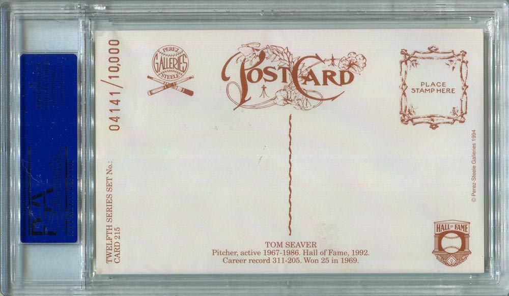 1994 Tom Seaver Signed Perez Steele Postcard #215. PSA Authentic