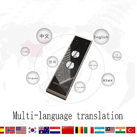 Traductor inteligente, traducción sincrónica de voz, multilingüe, traducción oportuna (Negro): Amazon.es: Oficina y papelería