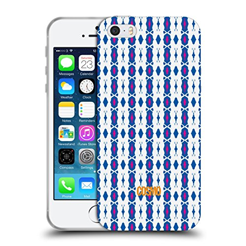 Official Cosmopolitan White Pink Boho Patterns Soft Gel Case for Apple iPhone 5 / 5s / SE