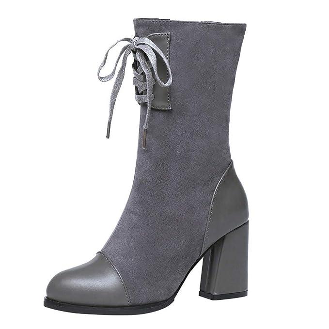 BaZhaHei Lace Donna Scarpa,Stivali Martin Tacco Alto Lace BaZhaHei Up Stivali di   8d591e