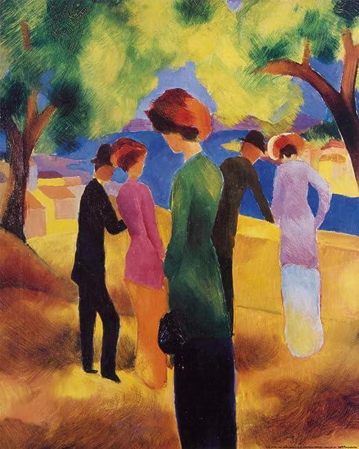 1art1 August Macke Dame In Grüner Jacke, 1913 Poster