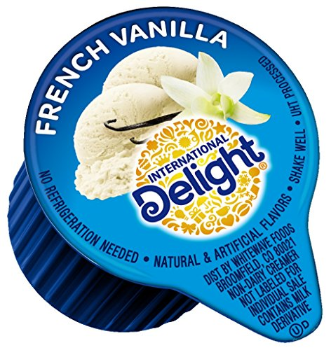 International Delight, French Vanilla, Single-Serve Coffee Creamers, 288 Count, Shelf Stable Non-Dairy Flavored Coffee Creamer, Great for Home Use, Offices, Parties or Group - Coffee Singles Creamer