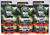 Matchbox Land Rover Exclusive - Range Rover Evoque, Land Rover Defender 110, Land Rover Freelander, Land Rover Ninety, Land Rover Discovery, Land Rover SVX - Complete Set of 6!