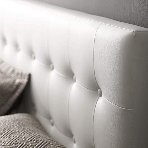 Modway Emily Tufted Button Faux Leather Upholstered Queen Headboard