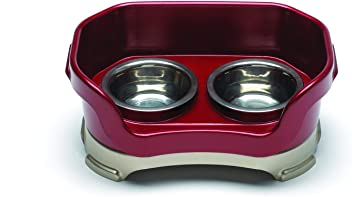 Neater Feeder Deluxe Cat Mess Proof Elevated Bowls, No Tip Non Slip, Stainless Steel Cat Food and Water Dish Stand