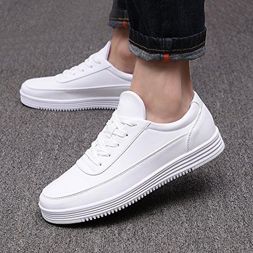 scarpe scarpe spesso e scarpe gli bianco Wuyulunbi Bianco Bianco uomini E0qSXw