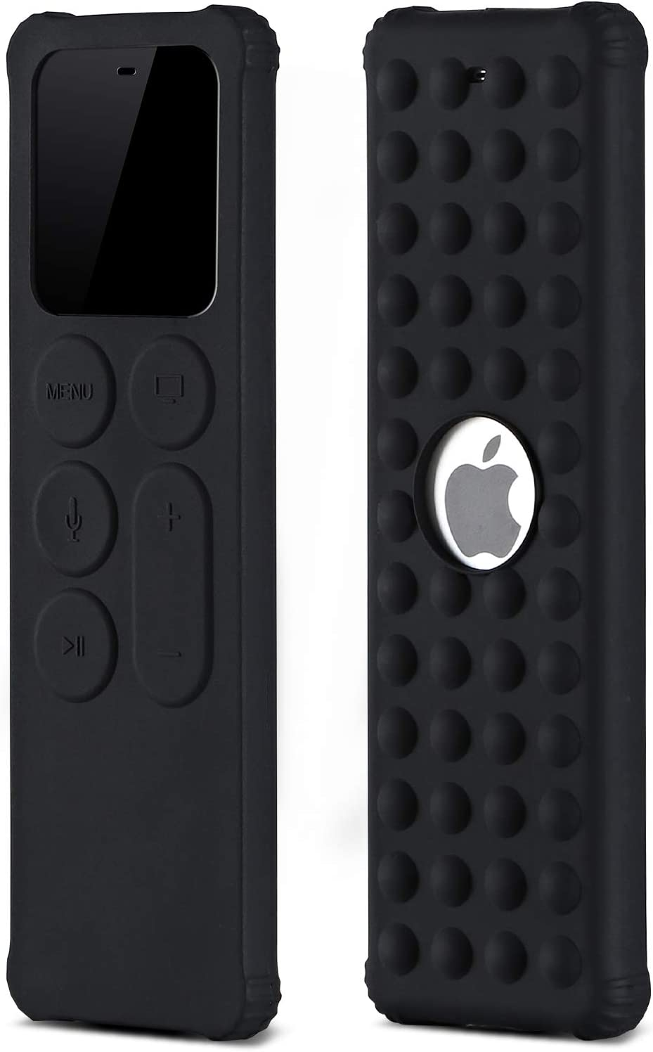 BUJIDAO Protective Case for Apple TV Siri 4K 5th / 4th Gen Remote, Protective Silicone Remote Cover for Apple TV Siri Remote Controller Lightweight Anti Slip Shock Proof (Black)
