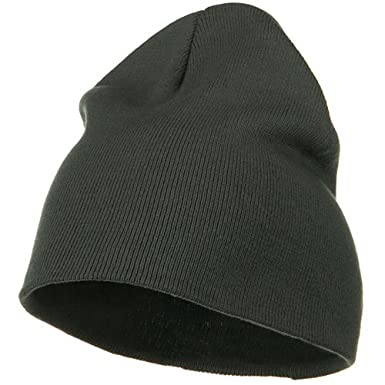 6a5761e3825 Big Size Superior Cotton Short Knit Beanie-Grey (for Big Head) at Amazon  Men s Clothing store  Skull Caps