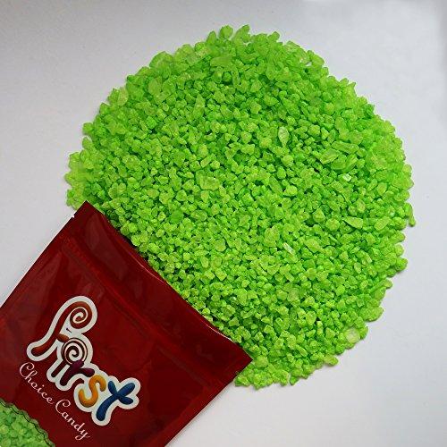 FirstChoiceCandy Light Green Watermelon Rock Candy Crystals 2 Pound Resealable Bag