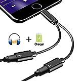 2 in 1 Lightning Adapter geeignet für iPhone X/8/ 8 Plus/7/7Plus/ipod/ipad ,Dual Lightning Audio Adapter und Ladeadapter ermöglicht Audiowiedergabe und Laden zur selben Zeit. Adapter Splitter Unterstützung Music Control&Aufladen &Anrufen.(Kompatibel mit 11 System)