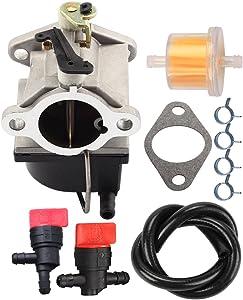 Butom 640065 640065A Carburetor with Fuel Line Shut Off Valve for Tecumseh OHV125 OHV130 OVH135 OHV110 OHV115 OHV120 OV358EA 13HP 13.5HP 14HP 15HP Engine Tractor