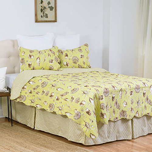 - C&F Home Calypso Shells Twin 2 Piece Quilt Set Twin Green