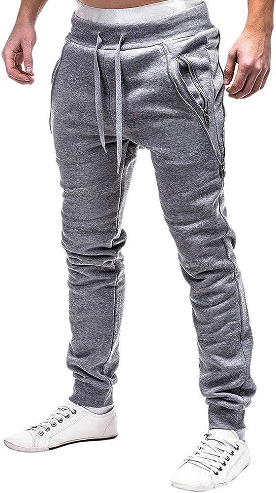 YanHoo Pantalones Sueltos Pantalones de Color sólido con ...