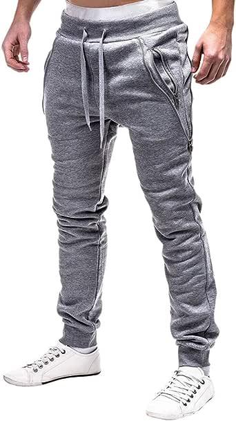 Pantalones para Hombre,Hombres Moda Deporte Casual Suelto Slim ...