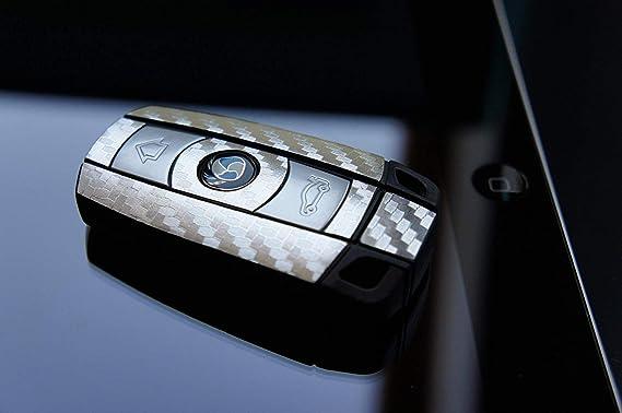 3D Carbon Chrome Silber Folie f/ür Ihren 3 Tastenschl/üssel von Wizuals/©