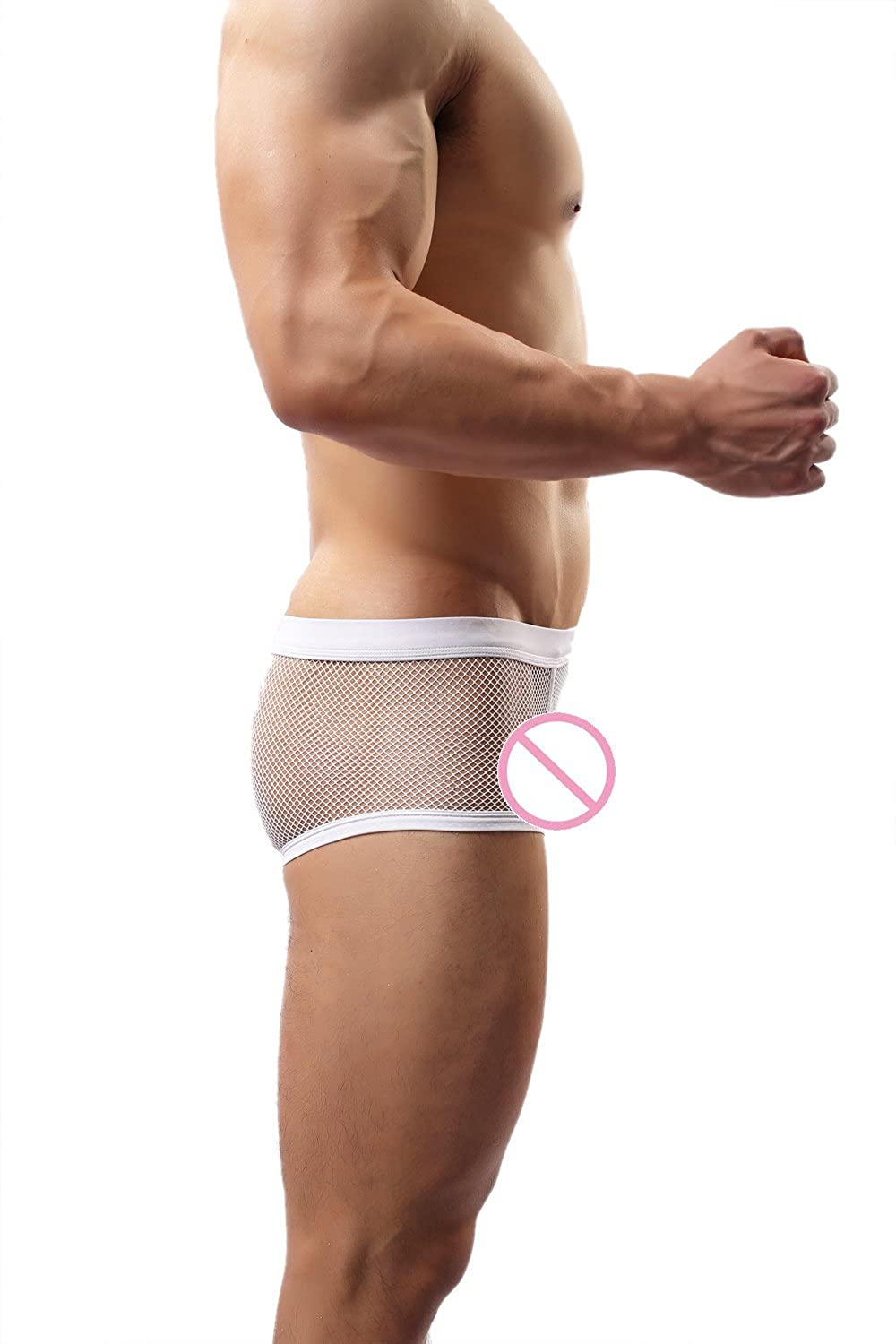 64634108d65f WOWHOMME Mens Sexy Boxer Briefs Mesh Pants Sheer See Through Underwear  Underpants C24 at Amazon Men's Clothing store: