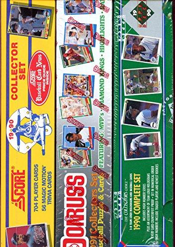 [1990 Score Upper Deck 1991 Donruss Baseball Card Complete Box set Collection] (1991 Donruss Baseball)