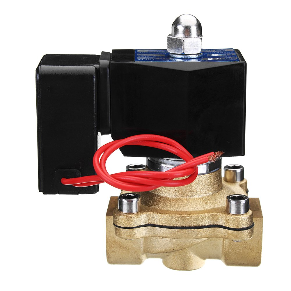 Vivona Hardware & Accessories 1/2'' AC 220V Brass Electric Solenoid Valve Energy Saving Normally Closed Water Switch Valve
