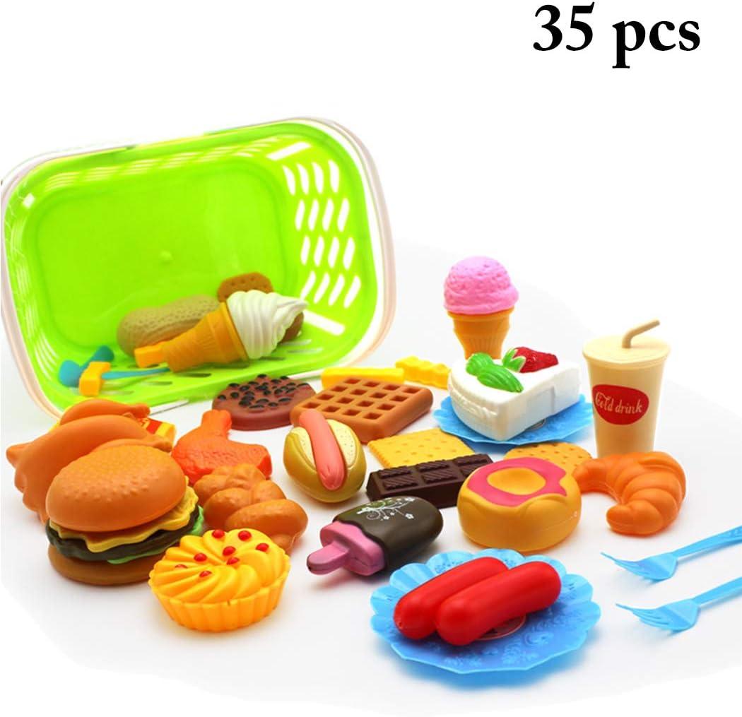 Joyibay Conjunto De Juguete De Comida Juguete Educativo Simulado De Juegos De Cocina para Niños Juguete De Cocina