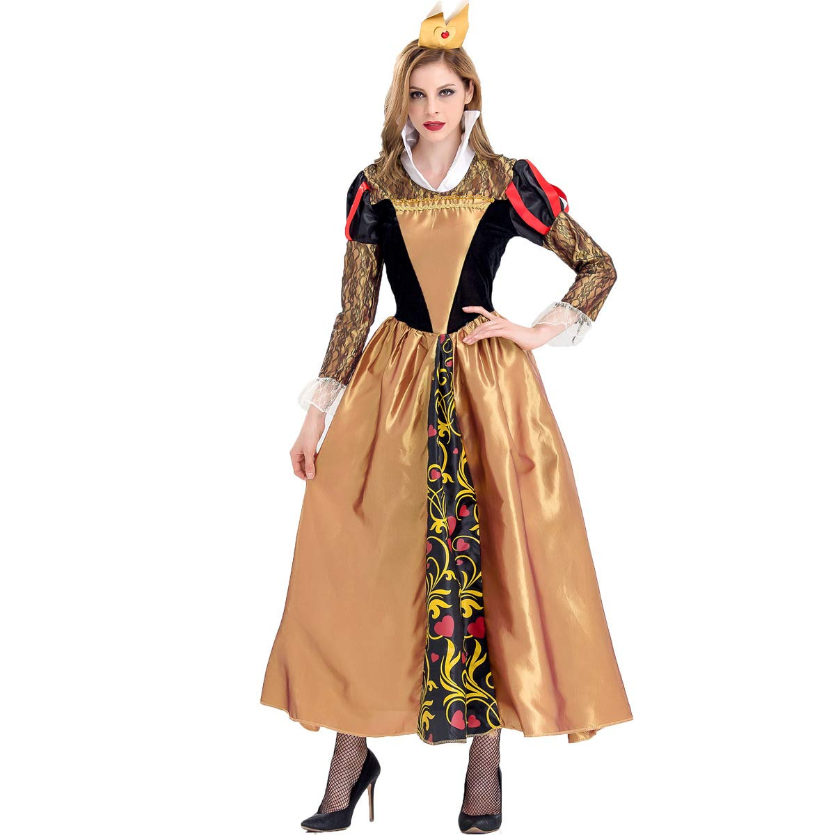 Simmia Halloween Kostüm,Königin COS, die Retro- Palastkostüm Halloween-Giftkönigin, 9066, M B07H5F6WH1 Kostüme für Erwachsene Schöne Farbe  | Kostengünstiger