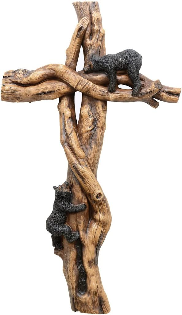 Twisted Timber Black Bears Cross